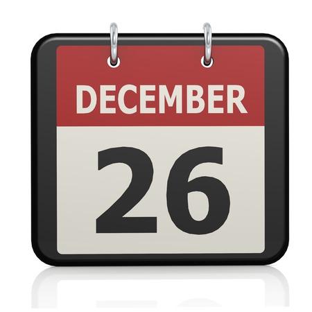 December 26, Boxing Day calendar photo