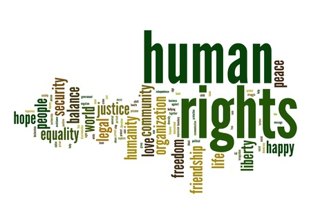 Human rights word cloud