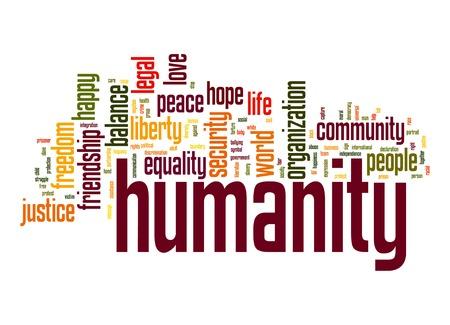 Humanity word cloud