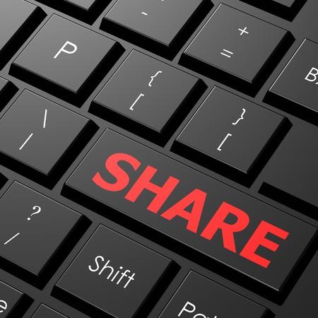 Keyboard share photo