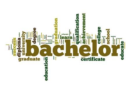 bachelor: Bachelor word cloud Stock Photo