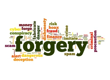 Forgery word cloud photo