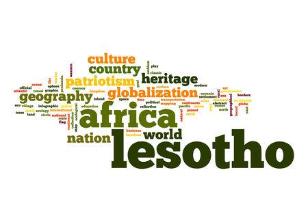 lesotho: Lesotho word cloud Stock Photo