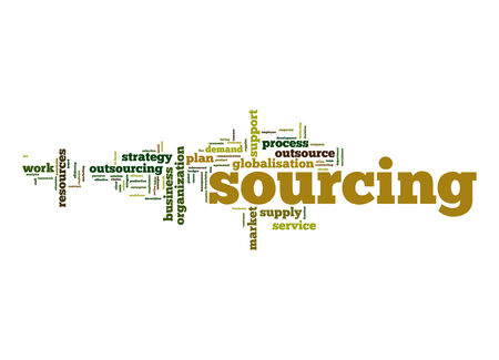sourcing: Sourcing word cloud Stock Photo