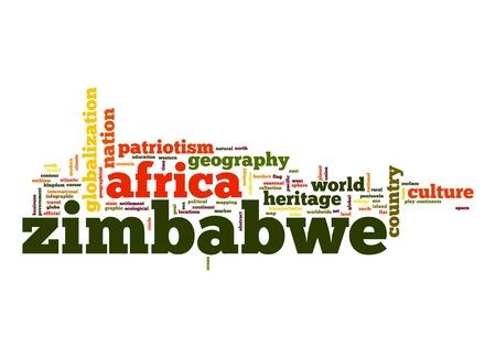 Zimbabwe word cloud photo