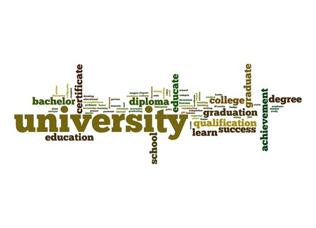 university word: University word cloud Stock Photo