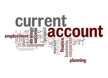 current account: Current account word cloud