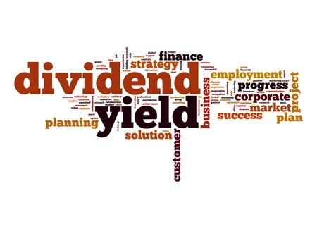 yield: Dividend yield word cloud