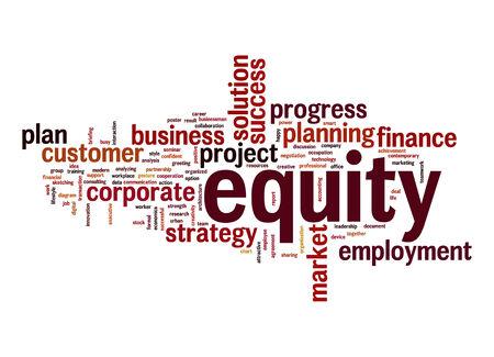 �quit�: mot de Equity cloud Banque d'images