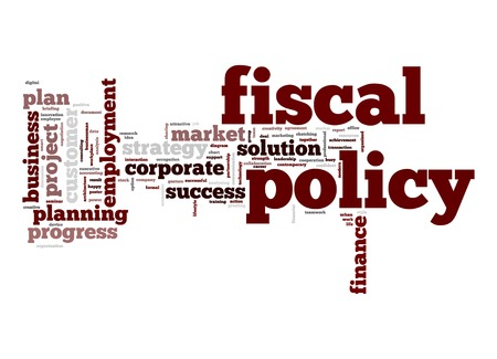 fiscal: Fiscal policy word cloud Stock Photo