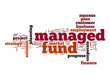 managed: Managed fund word cloud Stock Photo