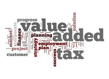Value added tax word cloud photo