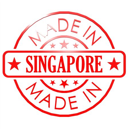 Made in Singapore red seal photo