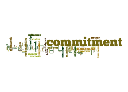 Commitment word cloud photo