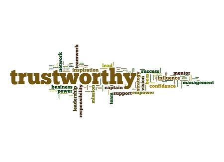trustworthy: Trustworthy word cloud