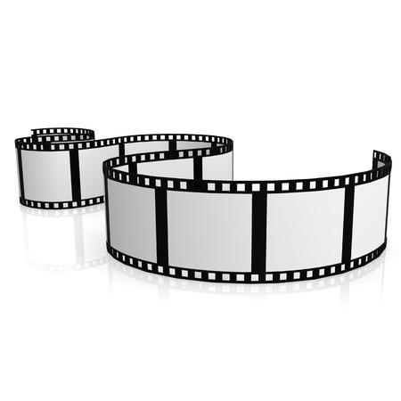 Isolated film strip Archivio Fotografico