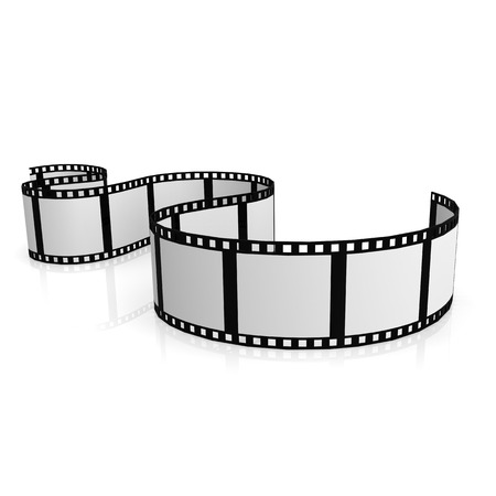 Isolated film strip Stock Photo