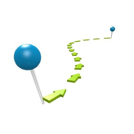 Round pin green path