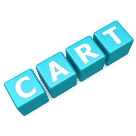 Cart blue puzzle photo