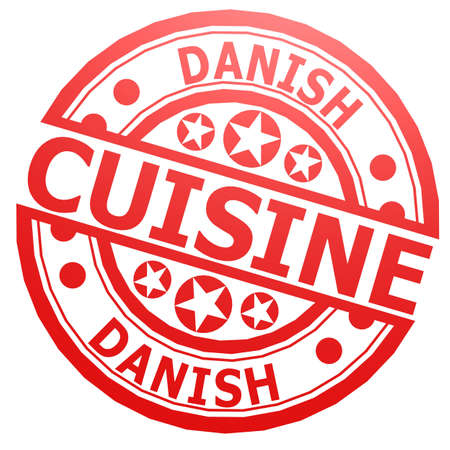 danish: Danish cuisine stamp