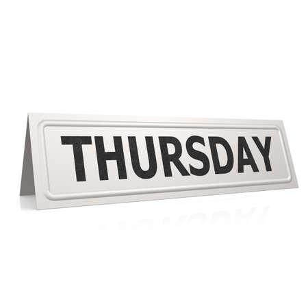 thursday: Thursday board Stock Photo