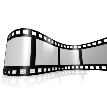 film strip: Isolated film strip Stock Photo