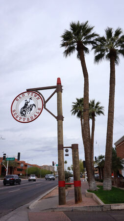 scottsdale: The Welcome to Old Town Scottsdale sign in Scottsdale Arizona