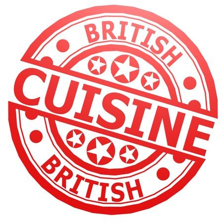 british cuisine: British cuisine stamp Stock Photo