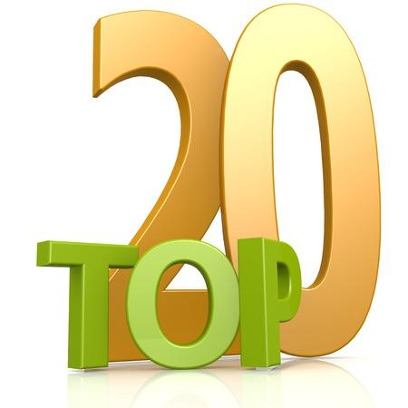 Top 20 word Foto de archivo