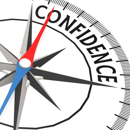 confidence: Compass with confidence word