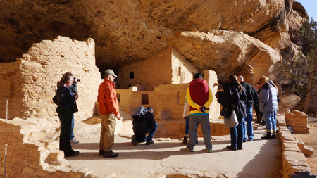 Visitors visit Mesa Verde National Park, Colorado