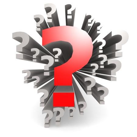 Red question mark Standard-Bild