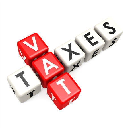Vat taxes buzzword Stock Photo