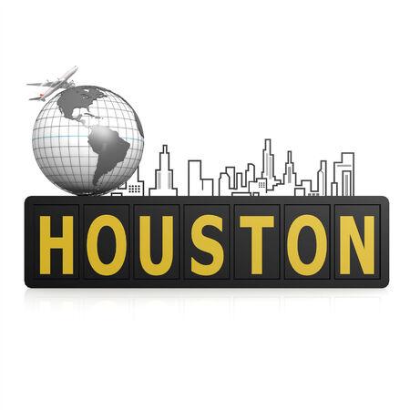 houston: Houston city Stock Photo