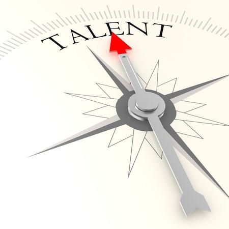 Talent compass Foto de archivo