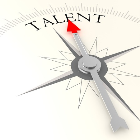 Talent compass Stock Photo