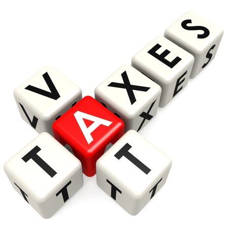 buzzword: Vat taxes buzzword Stock Photo
