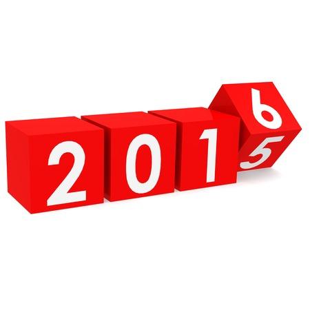 buzzword: Year 2016 buzzword Stock Photo