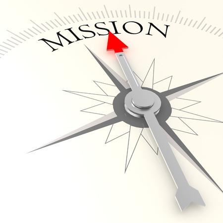 Boussole de mission Banque d'images - 33973937
