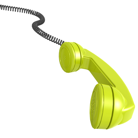 telephone receiver: Green telephone receiver