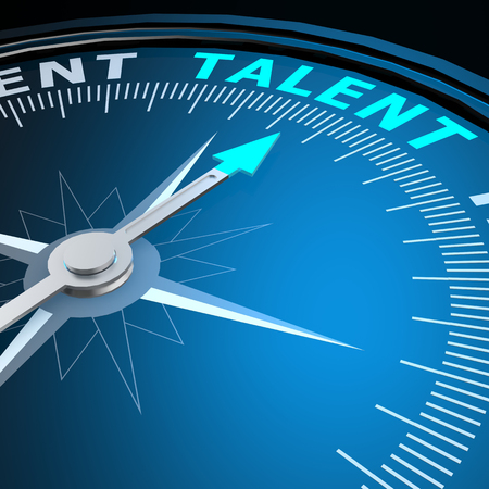 Talent word on compass Stock Photo - 34006590