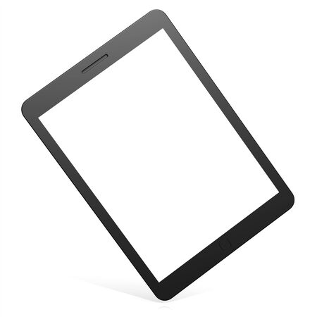 blank tablet: Blank slanted tablet Stock Photo