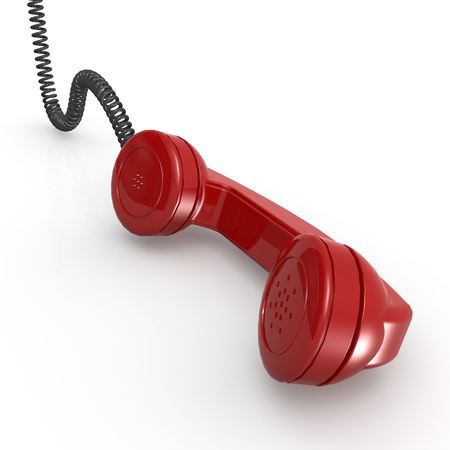 telephone receiver: Red telephone receiver