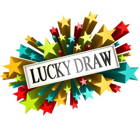 lucky: Lucky draw star banner Stock Photo