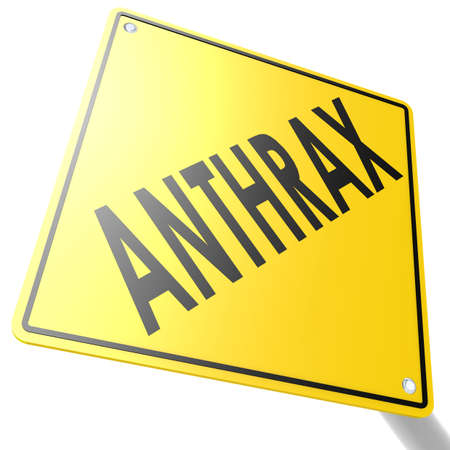 anthrax: Road sign with anthrax