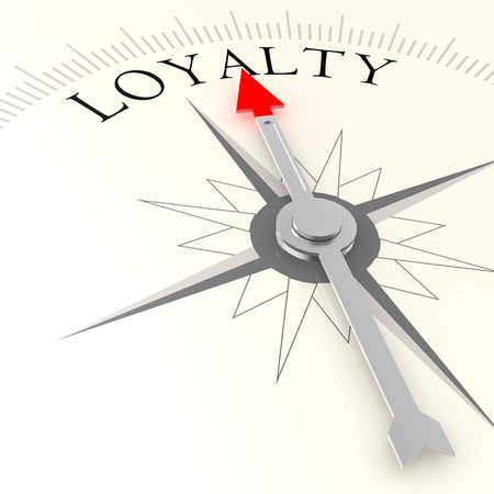 Loyalty compass image with hi-res rendered artwork that could be used for any graphic design.