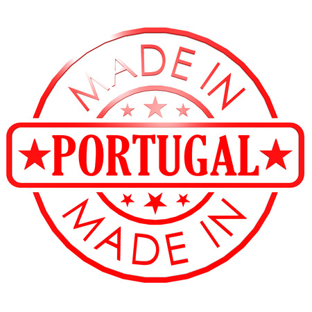 made in portugal: Made in Portugal red seal Stock Photo
