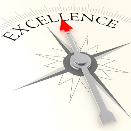 best guide: Excellence compass Stock Photo