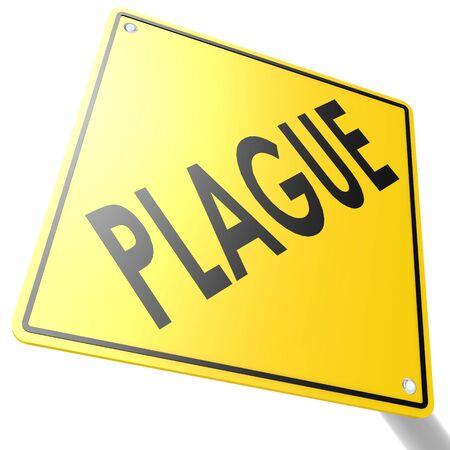 plague: Road sign with plague