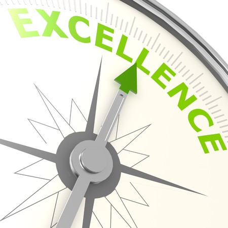 Excellence compass 스톡 콘텐츠